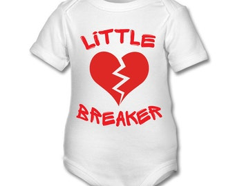 Little Heart Breaker funny cute babygrow bodysuit
