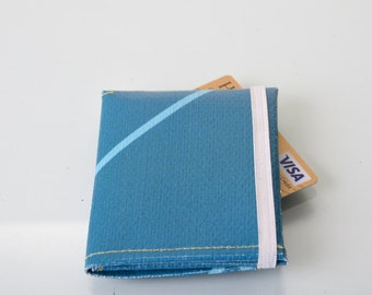 Blue Trifold Wallet repurposed  from london 2012 Olympic banner