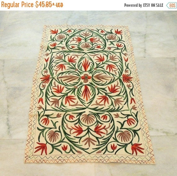 ON SALE Customized Rugs Handmade Rugs Embroidered By