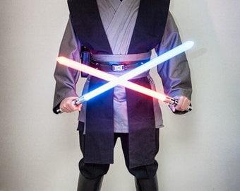 Grey Jedi Star Wars Inspired Sith/jedi Tunic, Tabards , Obi set with Leather Belt