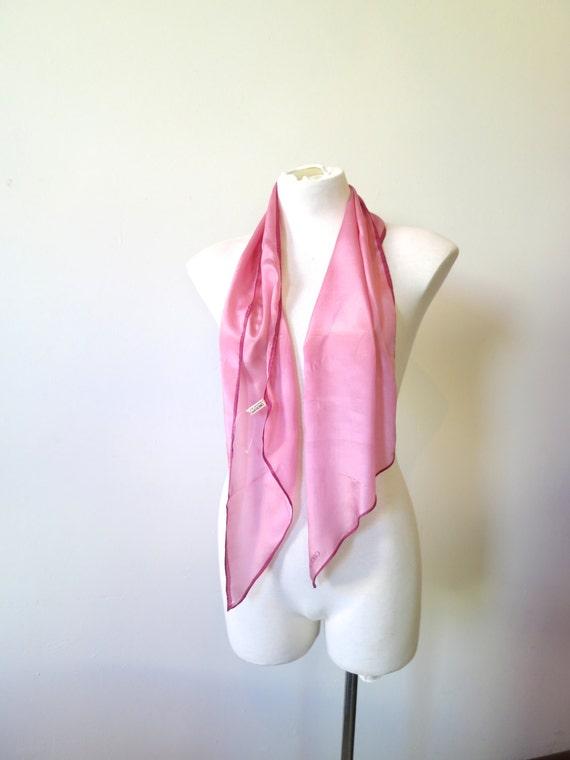 vintage oroton silk scarf color block scarf flag scarf