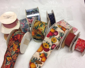 Craft Ribbon Remnants                           Great for Fall Wreaths