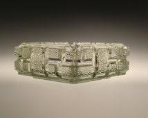 Czech Bohemian Rudolfova Hut Art Glass Ashtray by Jiri Zejmon