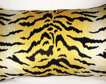 Perennials City Kitty Velvet Pillow. Down feather insert included.
