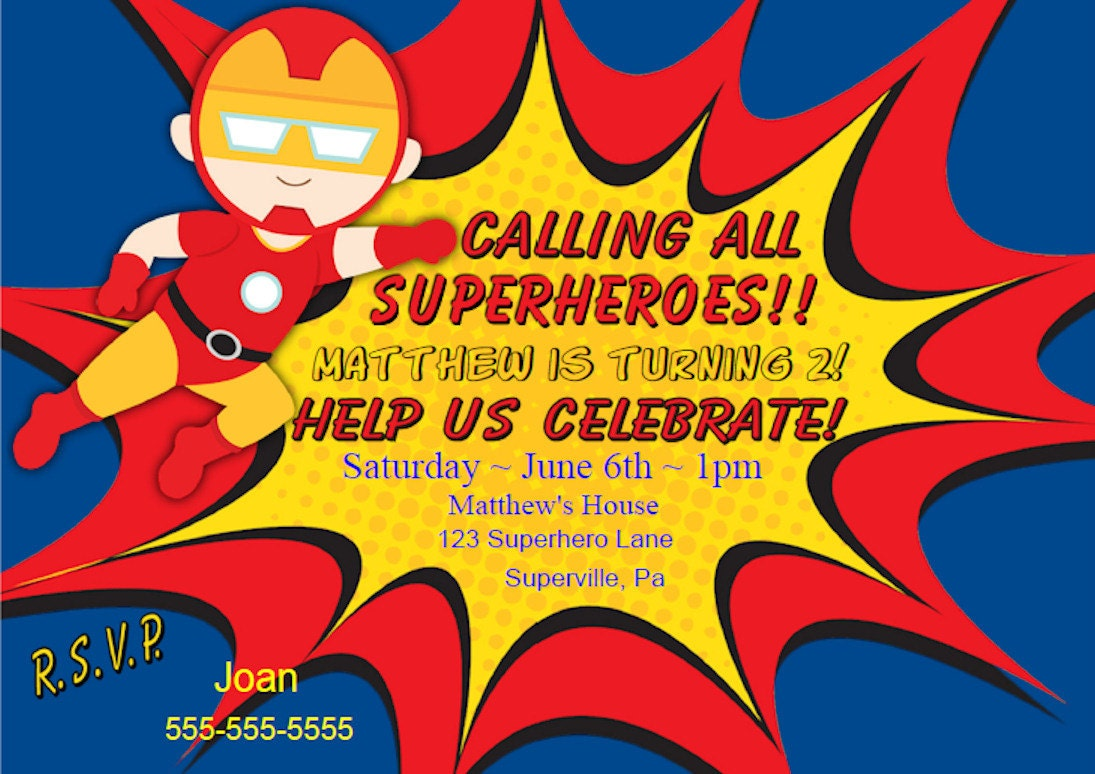 Iron Man Invitations Funpartysupply
