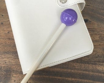 Cute Lollipop Gel Pen Candy Color Black Ink PURPLE (A01)