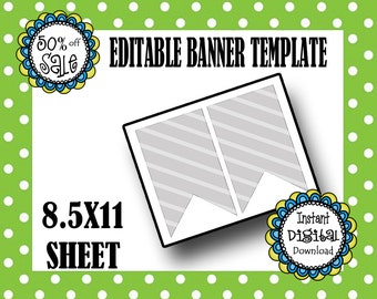 BANNER TEMPLATE- Editable Banner Template- DIY Template- Commerical Use