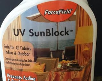 UV SunBlock (we spray on curtain panel)