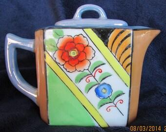 Vintage Art Deco Lusterware Teapot For One