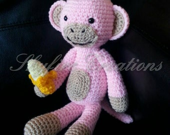 Adorable Monkey Plush Made to Order
