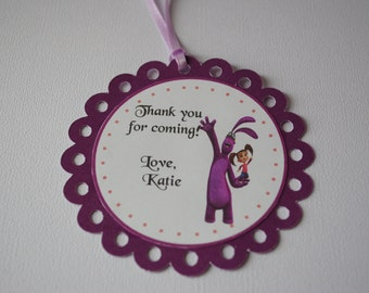 Personalized Kate & Mim Mim Happy Birthday Thank You Tags for Favors Goody Bags
