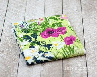 Mother's Garden Light Fabric - Floral Modern Cotton Quilting Fabric - Art Gallery Fabrics - Lavish Collection