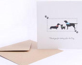 Thank You for looking after the Dog - Greetings Card