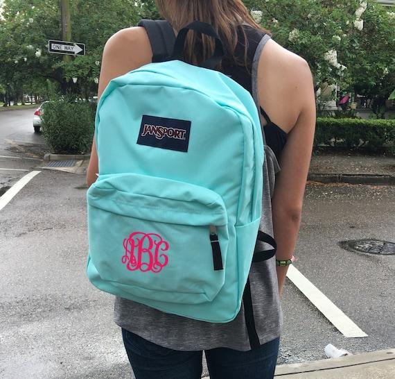 Jansport Backpack with Custom Embroidered Monogram