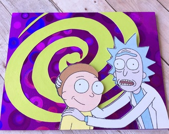 Rick and Morty Card | Glip Glops | Adult Swim | Galaxy | Aliens | Dimensions | Crude | Funny | Birthday | Friend | BFF | Shwifty |