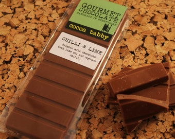 Chilli and Lime - Milk Chocolate Bar