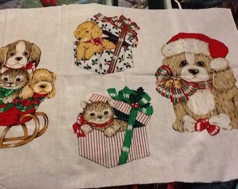 Christmas appliques, dogs and cats