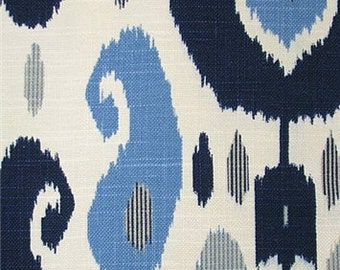 Fazil Blue, By Duralee Fabric, John Robshaw Collection, Fabric By The Yard