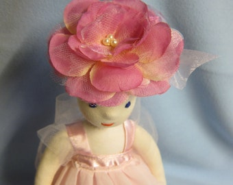 "Fairy Doll, Rosalie Rose Fairy, Fay, Elfe  Flower girl doll, Soft doll in Waldorf Stil, 11,5 "", collector's doll, art doll"