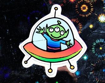 Hello Alien Sticker