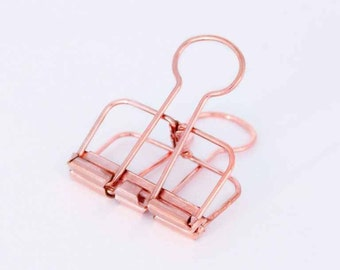 Medium Copper / Rose Gold Binder Clip — Frame Clip — Perfect For Securing Papers