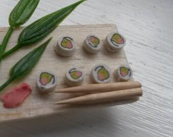 Polymer Clay Sushi Cane (1 Inch)