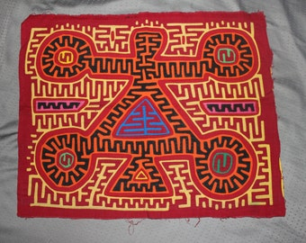 VINTAGE MOLA [ indigenous fabric / textile / patch/ handmade in Panama ]