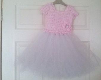 Crochet girl tutu dress, baby girl tutu dress, Crochet tutu dress, tutu dress age 3-4, girl tutu dress, ready to ship