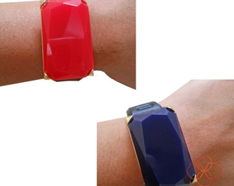 Charm to Accessorize the Fitbit Charge or Other Activity Trackers - The HANNAH Blue or Red Charm to Dress Up Your Favorite Fitness Tracker