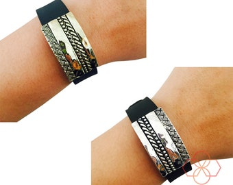 NEW! Charm to Accessorize the Garmin Vivosmart - The THOMPSON Engraved Metal Charm to Dress Up Your Favorite Fitness Tracker - FREE Shipping