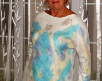 """Sweater valânyj (Nuno) """"mosaic"""""""