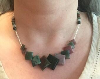 Fancy Jasper Geometric Necklace