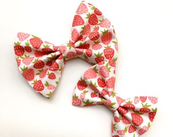 Baby Girl, Toddler, Girls Sweet Strawberries Bow