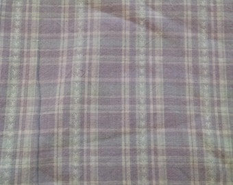 Purple plaid fabric