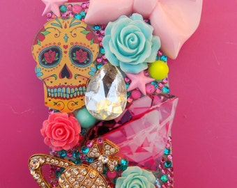Iphone 5c girly skull cell phone case