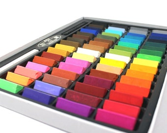 64 Piece Soft Pastel Set; Pastel Pencil Art Set; Non Toxic Square Chalk