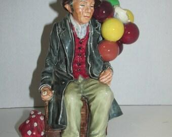 "Vintage Royal Doulton ""The Balloon Man"" Hn 1954 England / Popped Balloon"