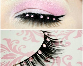 60% OFF Light Pink Rhinestone False Eyelashes