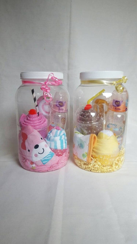 Neutral Baby Gift Sets : Baby gift set in a jar girl boy neutral