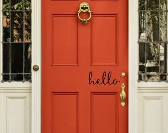 Charming Hello Decal