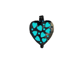 Glow-in-the-Dark Heart Pendant Necklace