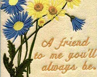 Embroidered Friendship Blanket Throw