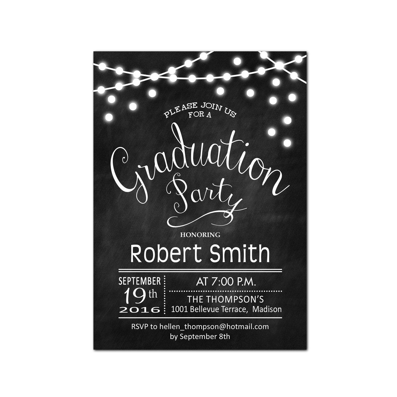Graduation Party Invitation / Graduation Invites / Chalkboard ...