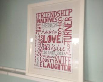 Custom Word Papercut