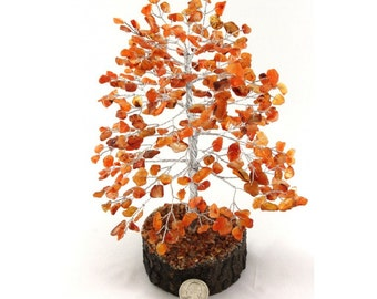300 Chip Carnelian Gemstone Tree -