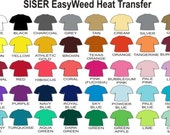 "Siser EasyWeed Heat Transfer Vinyl LARGE 15"" x 12""  sheet - Iron On Permanent Easy Weed"