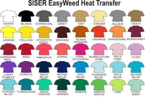 Siser Easyweed Heat Transfer Vinyl Large 15 X 12