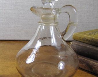 Small Glass Vinegar Cruet - Glass Stopper