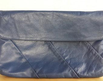 Large Clutch, Leather Handbag, Leather Purse, Leather Clutch