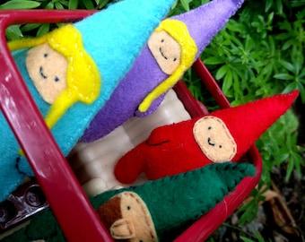 Cute Little Gnome Family